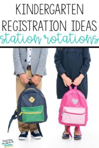 Learn about some fun and successful kindergarten registration ideas using a station rotation model to get to know your incoming students.