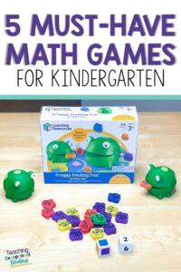 pinterest pin for 5 must have games for kindergarten teachers
